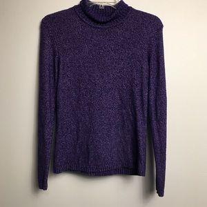 Talbots Purple Turtleneck Sweater Small
